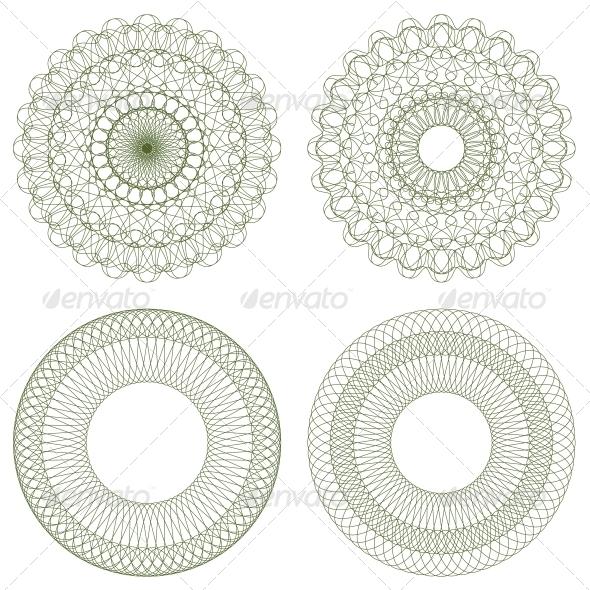 GraphicRiver Set of Vector Guilloche Rosettes 4497324