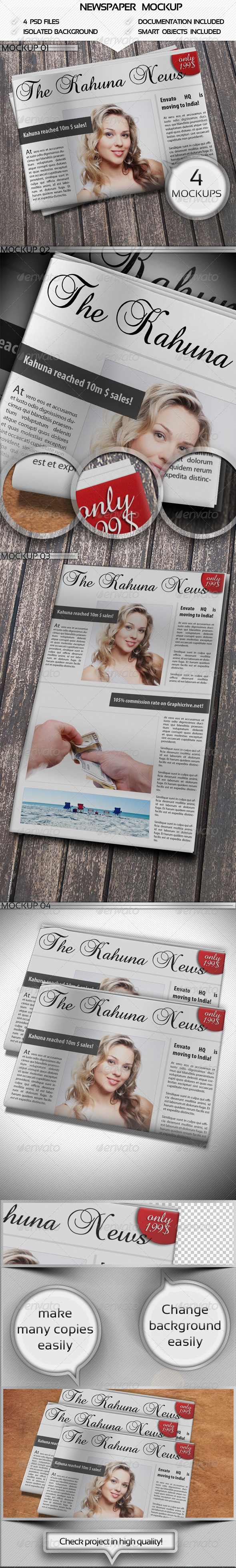 GraphicRiver Newspaper Mockup 4497571