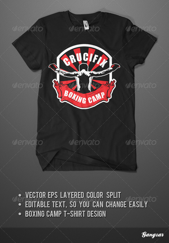 GraphicRiver Boxingt Camp T-Shirt Template 4497630