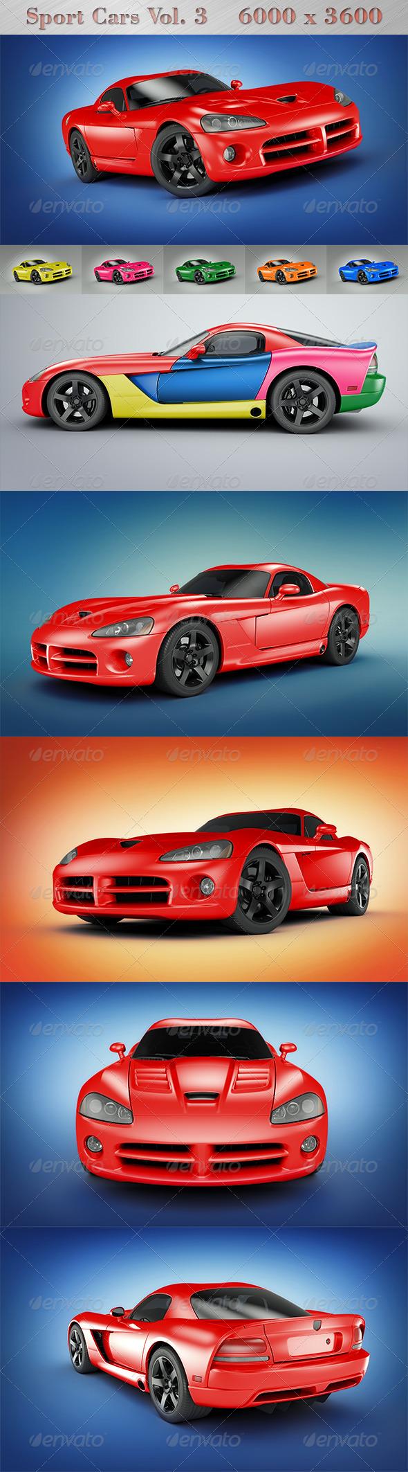 GraphicRiver Sport Cars Vol.3 4497757