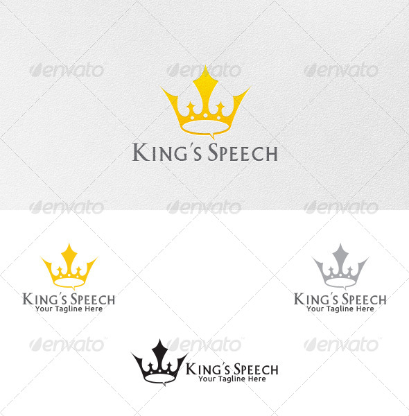 GraphicRiver King s Speech Logo Template 4498042