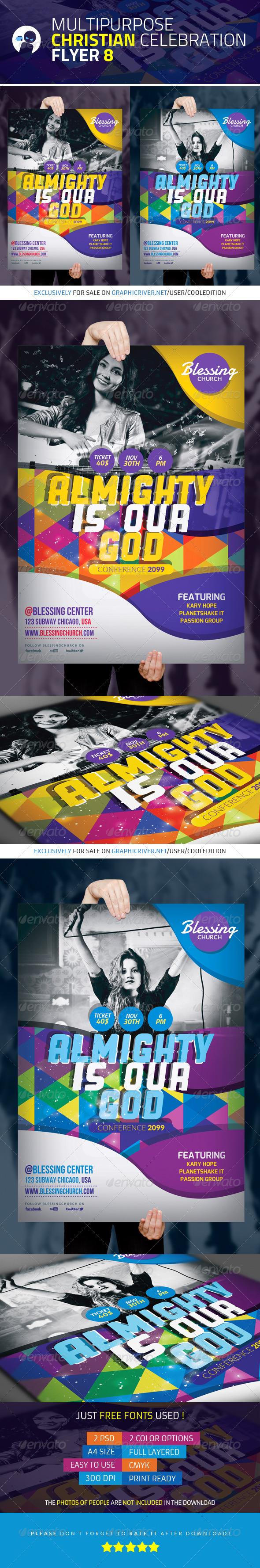 GraphicRiver Multipurpose Christian Celebration Flyer 8 4377266
