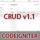 CodeIgniter CRUD Data Management Tool