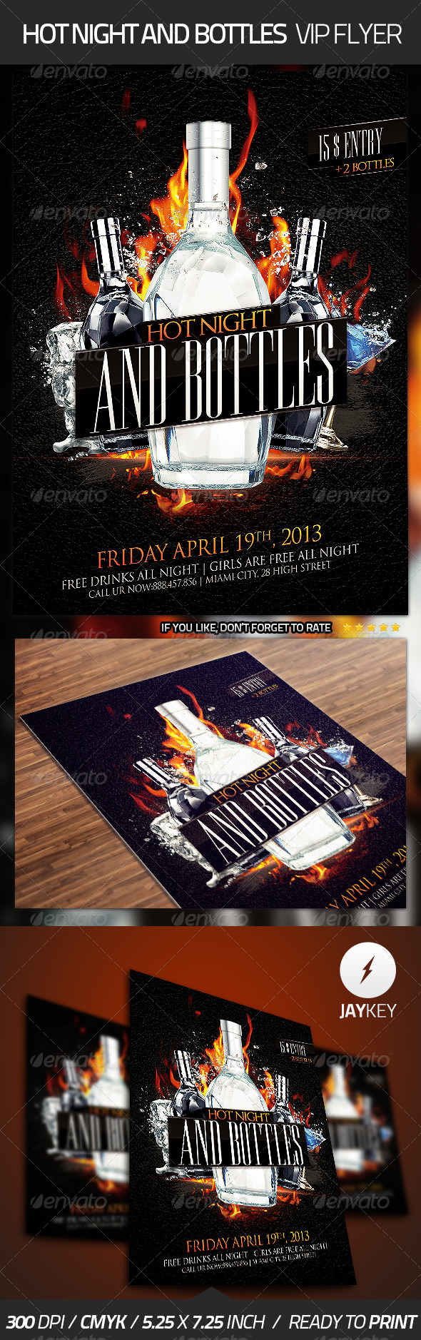 GraphicRiver Hot Night Bottles Flyer 4498288