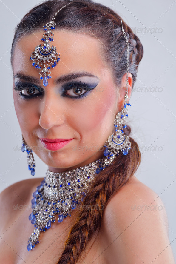 Beautiful Woman Luxury Makeup - Stock Photo - Images