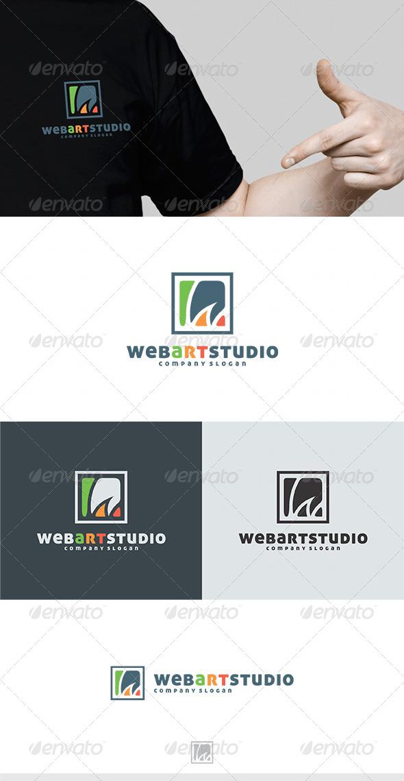 web art studio logo graphicriver. Black Bedroom Furniture Sets. Home Design Ideas