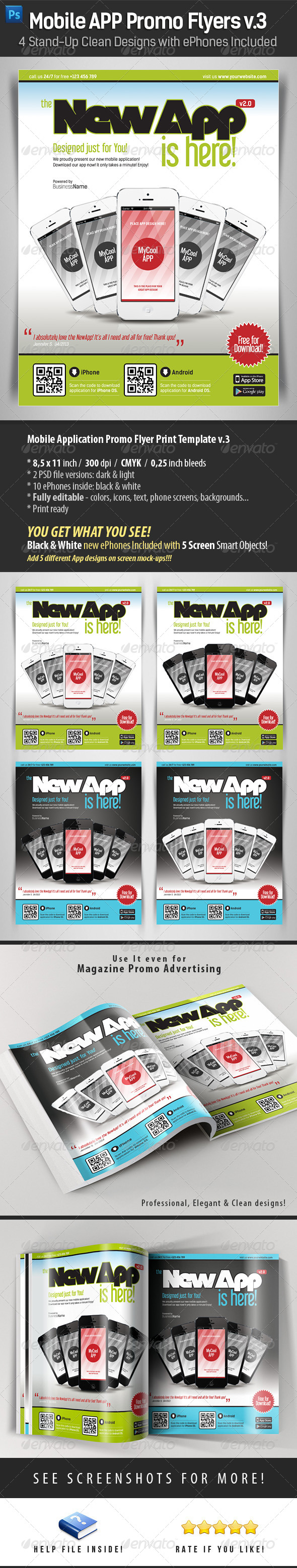 GraphicRiver Mobile App Flyers Template v.3 4498678