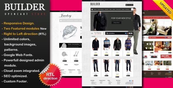 Builder - Premium Opencart Theme - Shopping OpenCart