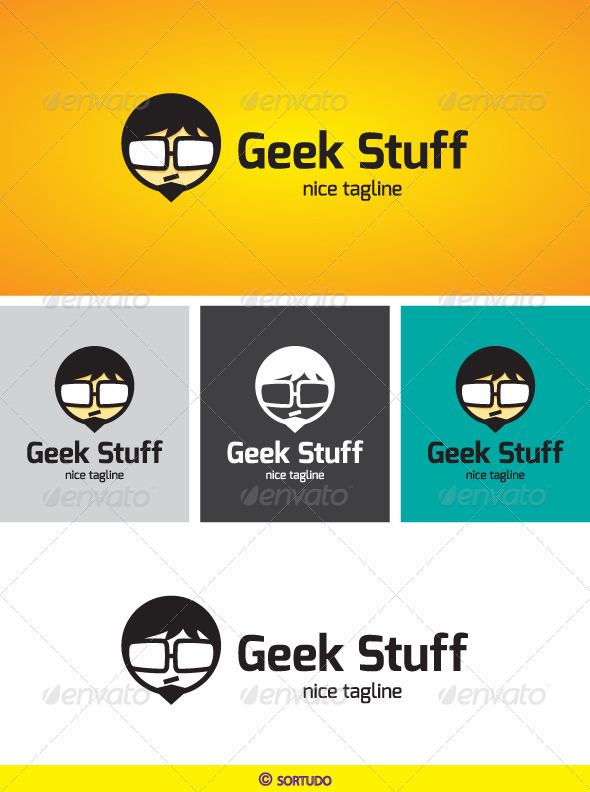 GraphicRiver Geek Stuff Logo Template 4424368