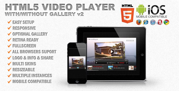 CodeCanyon Responsive HTML5 Video Player & Gallery 4499517