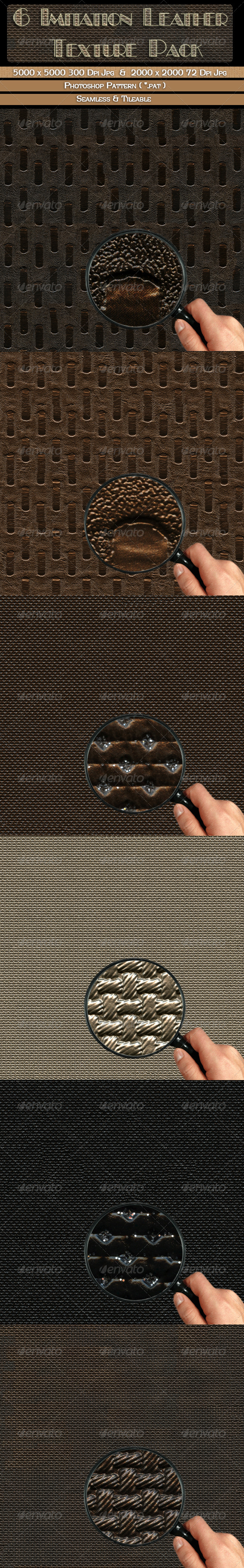 GraphicRiver 6 Imitation Leather Texture Pack 4499533