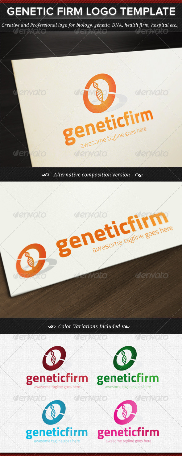 GraphicRiver Genetic Firm Logo Template 4499765