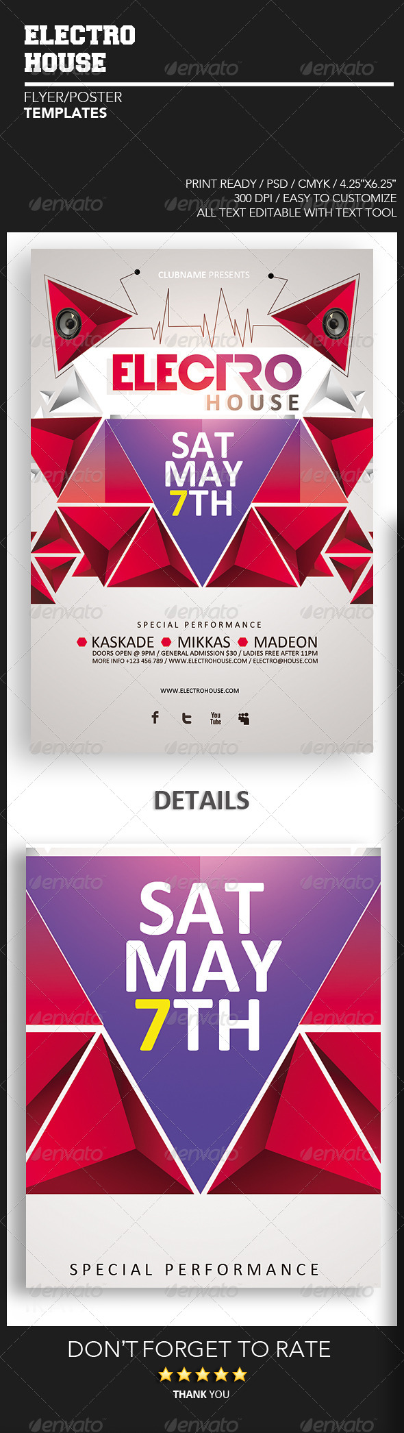 Electro House vol.1  - Events Flyers