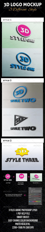 GraphicRiver 3D Logo Mockup 4500044