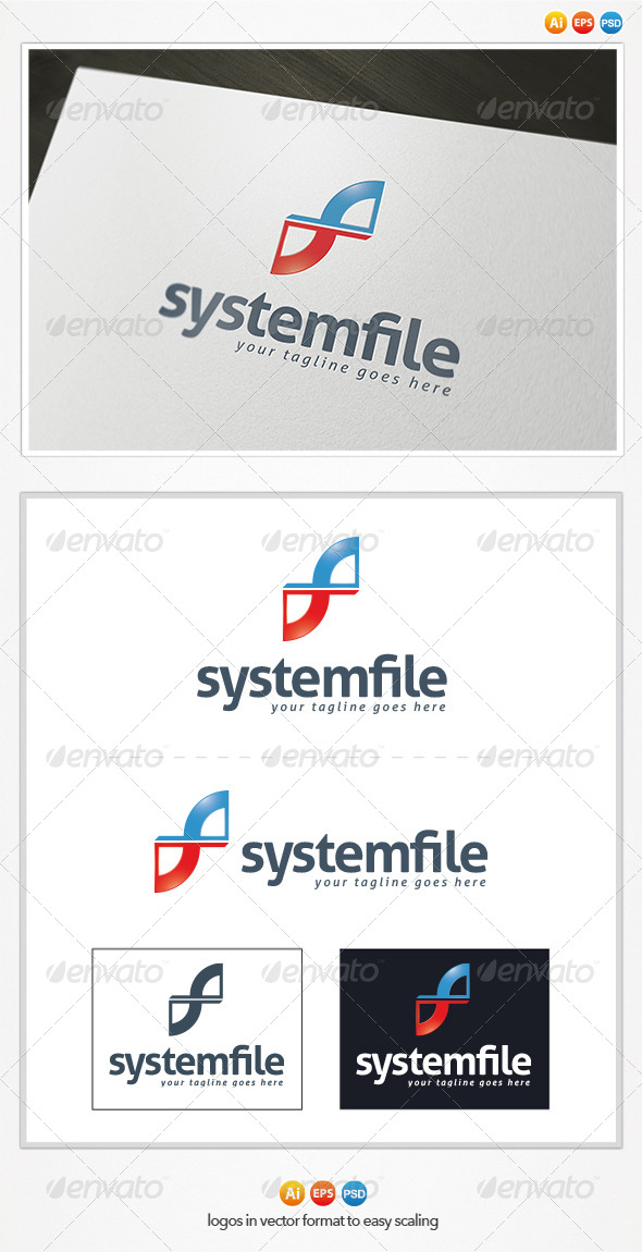 System File Logo - Letters Logo Templates
