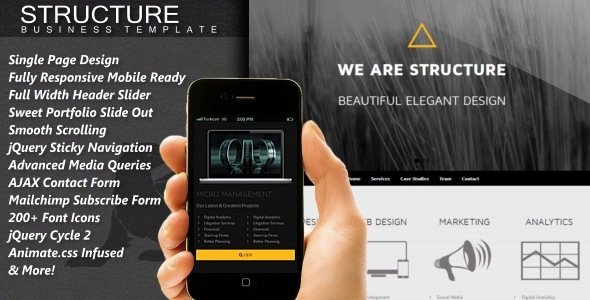 Structure - Responsive One Page HTML5 Template