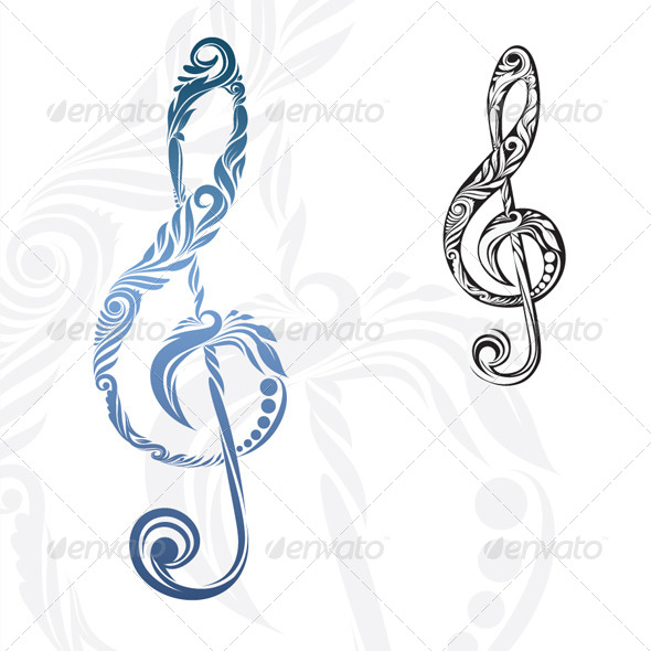 GraphicRiver Musical Note Ornament 4500626