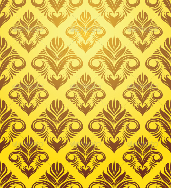 GraphicRiver Gold Yellow Ornament Pattern 4500662