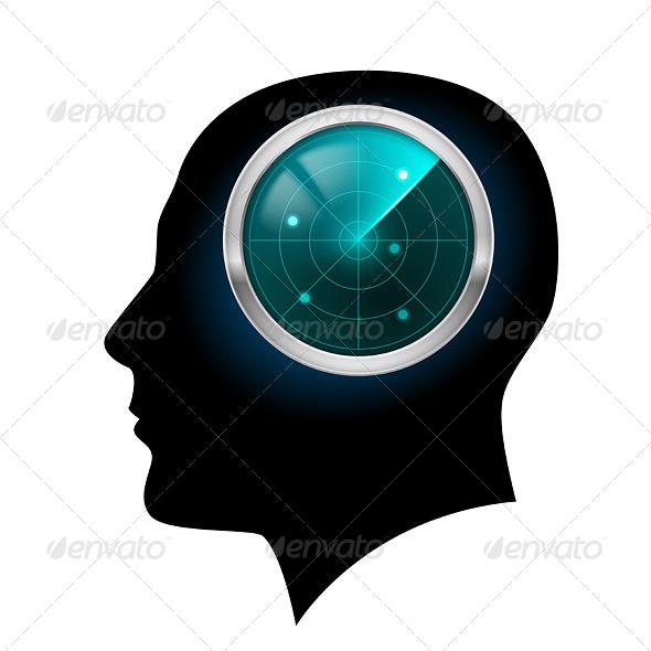 GraphicRiver Man Head Silhouette 4500754