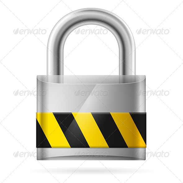 GraphicRiver Security Concept with Locked Padlock 4500800