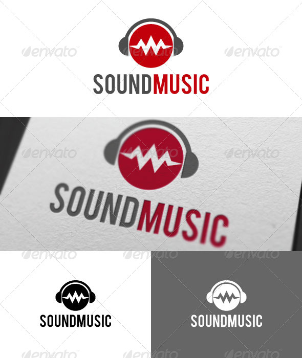GraphicRiver Sound Music Logo Template 4500901