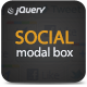 jQuery Social Modal Box - CodeCanyon Item for Sale