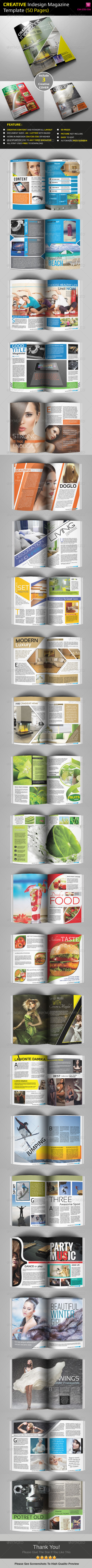 GraphicRiver Creative Indesign Magazine Template 50 Pages 4501163
