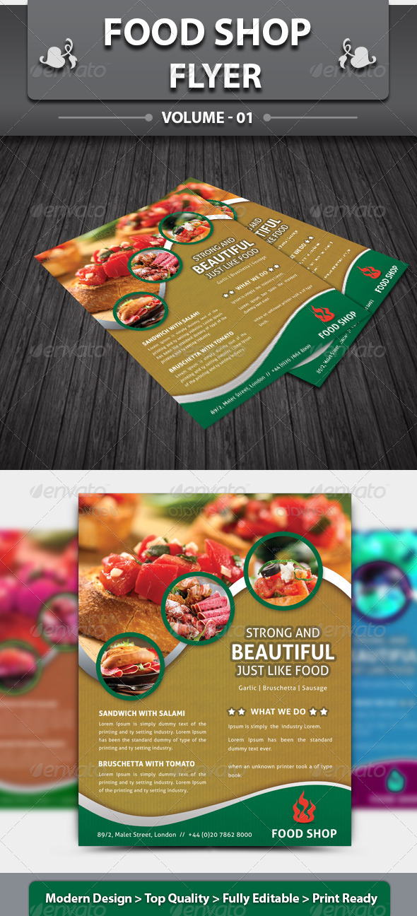 Restaurant Business Flyer Volume 3