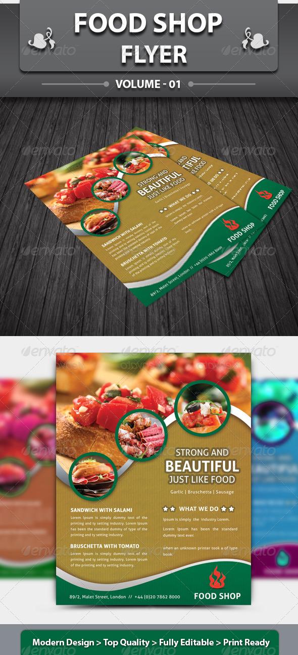 GraphicRiver Food Shop Flyer 4501259