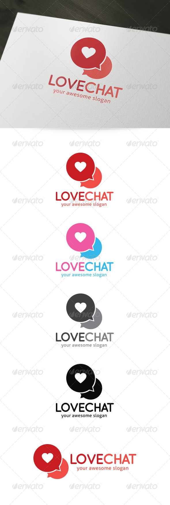 GraphicRiver Love Chat Dating Logo 4501331