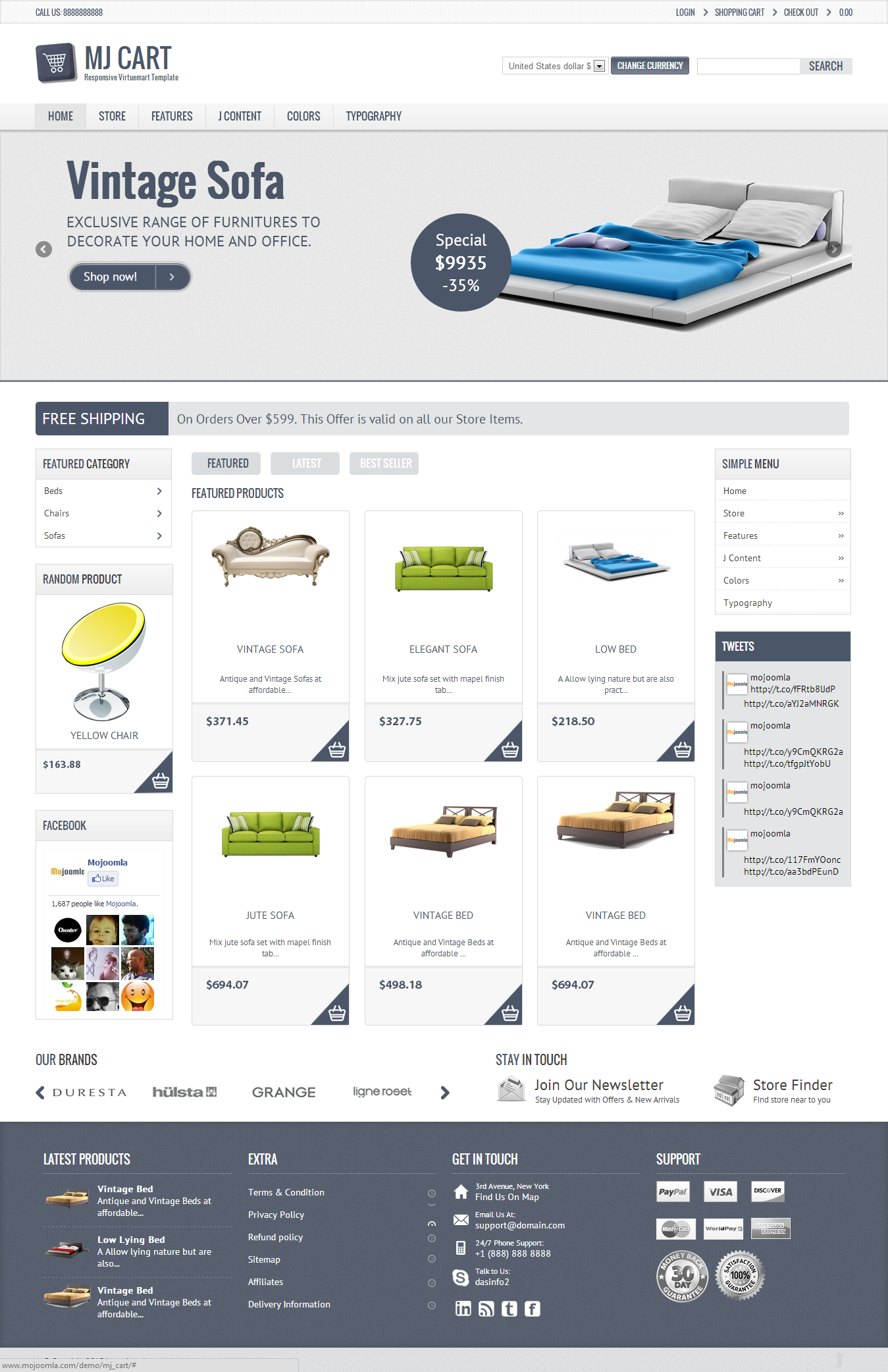02 homepage Mj Cart   Responsive Virtuemart Template