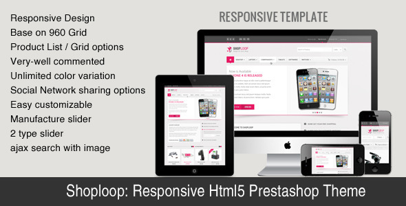 ThemeForest hoploop Responsive HTML5 Prestashop Theme 4500450