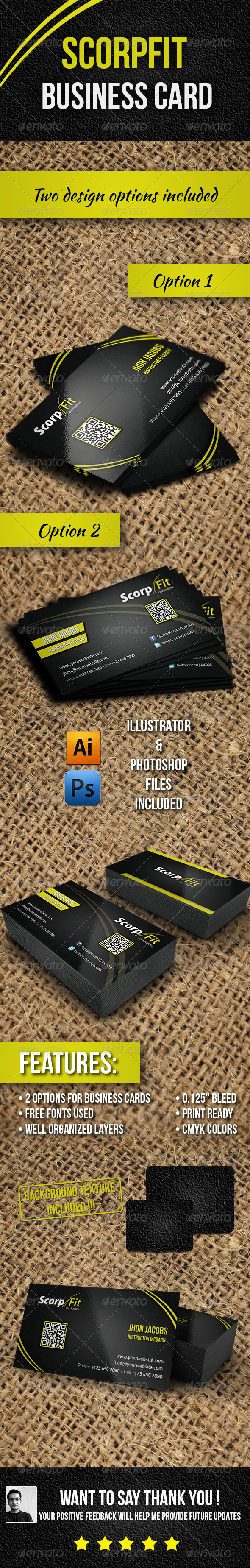 GraphicRiver Scorpfit Business Cards 4503255