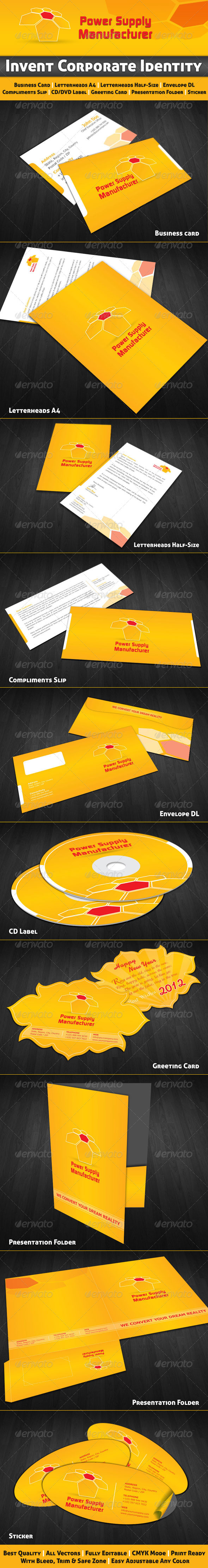 Invent Corporate Identity - Stationery Print Templates
