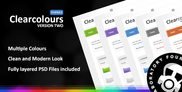 Clear Colours v2 phpBB3 Theme