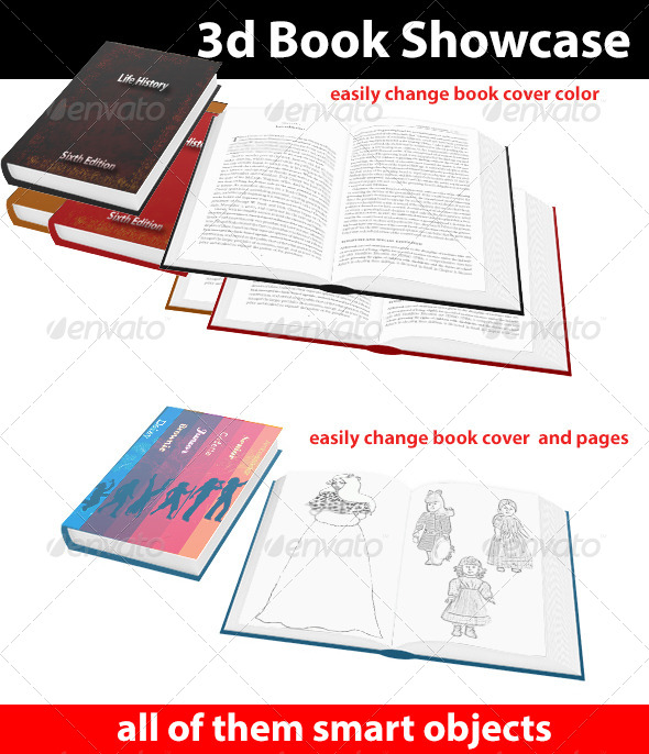 GraphicRiver 3D Book Showcase 4503290