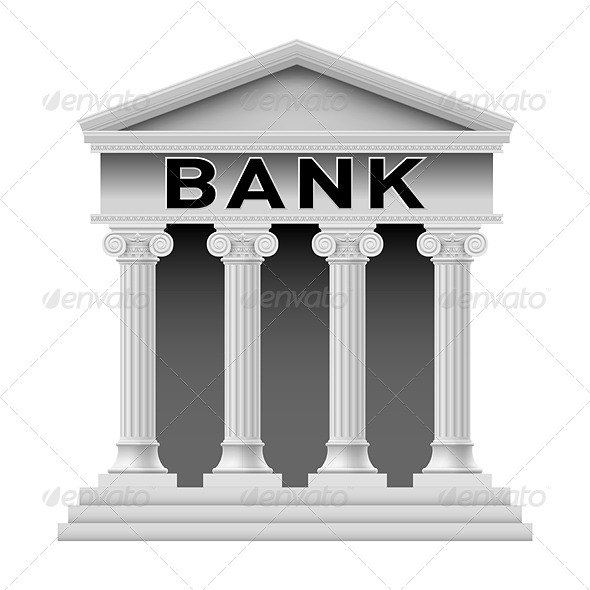 GraphicRiver Bank Building Symbol 4503292