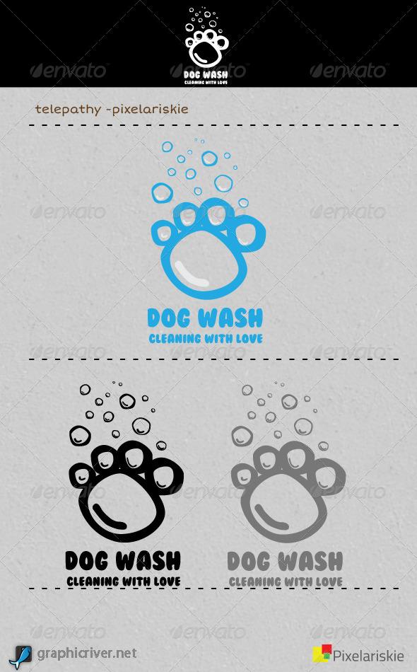 GraphicRiver Dog Wash Logo 4414236