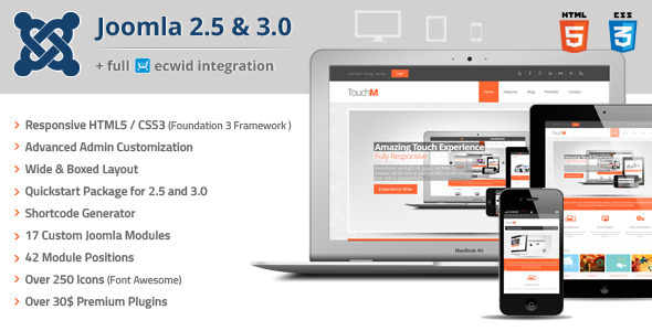 ThemeForest TouchM Responsive Multi-purpose Joomla Template 4494446