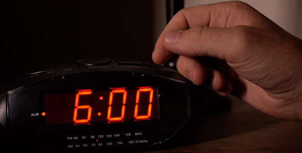 Alarm Clock Goes Off At 6am By Dotkomrade Videohive