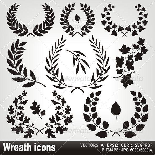 GraphicRiver Wreath Icons 4504630