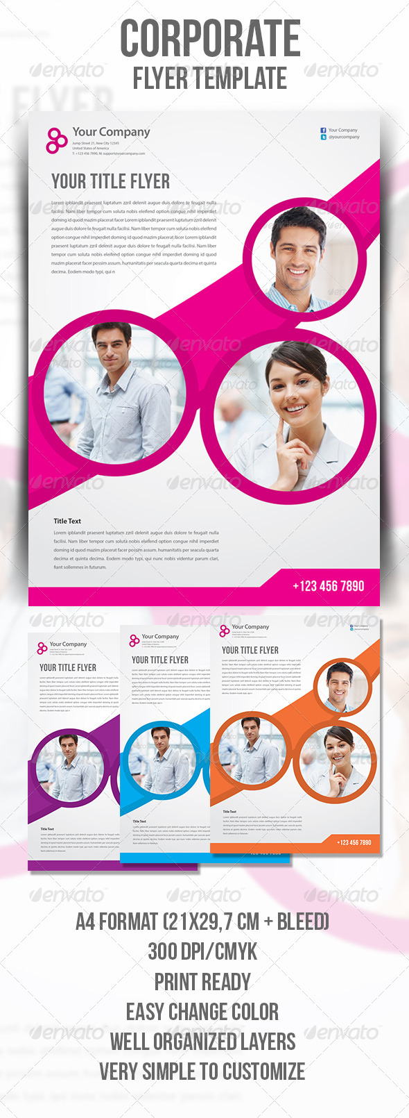 GraphicRiver Corporate Flyer Template 4504772