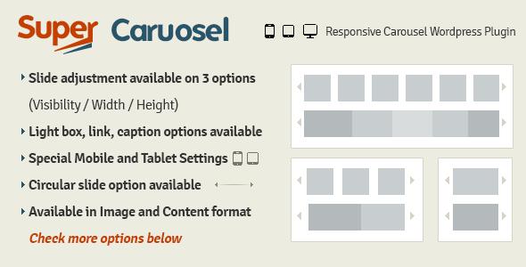 CodeCanyon Super Carousel Responsive Wordpress Plugin 4505016