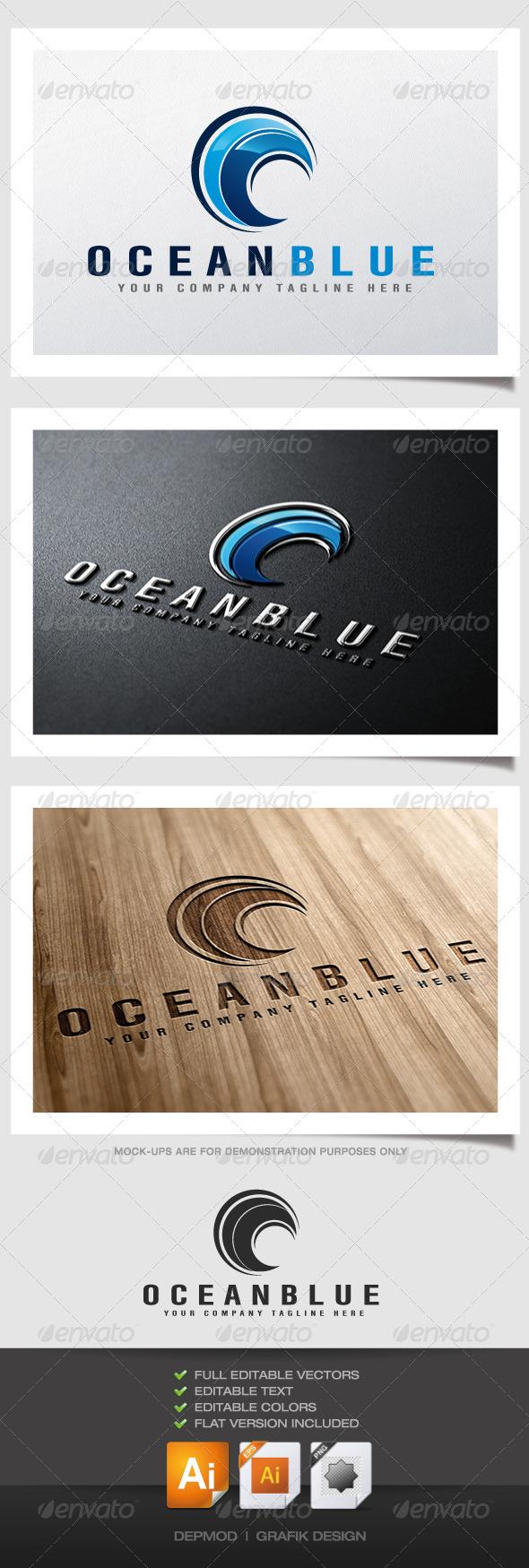 GraphicRiver Ocean Blue Logo 4505076