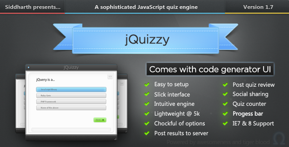 jQuizzy - Premium Quiz Engine - CodeCanyon Item for Sale
