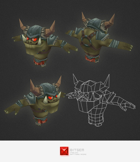 Low Poly Orc Warrior