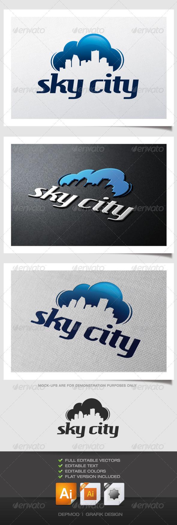 GraphicRiver Sky City Logo 4505231
