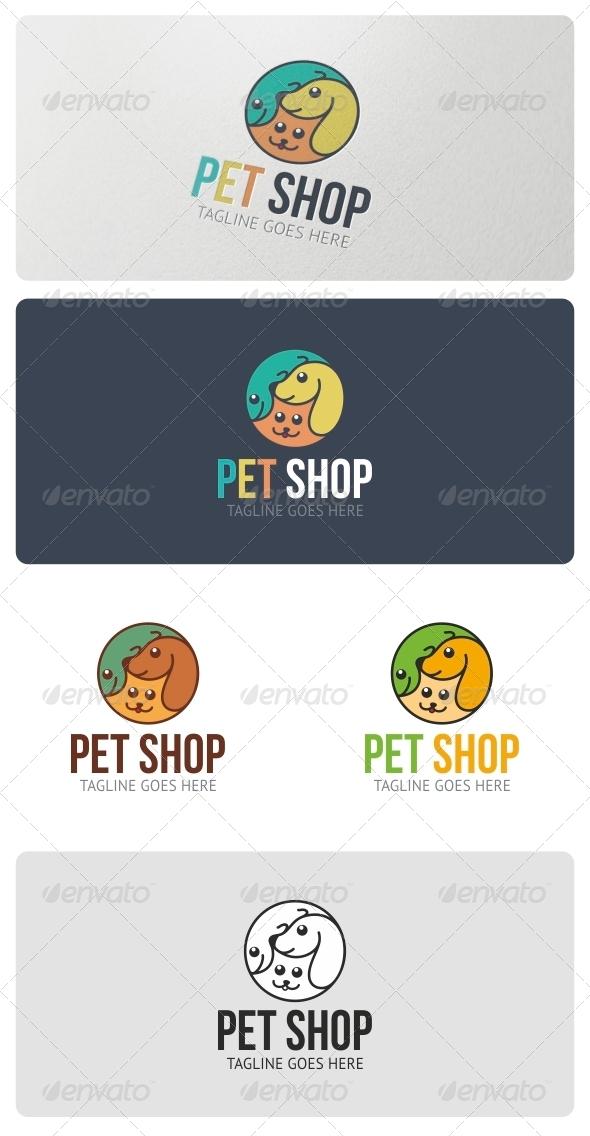 GraphicRiver Pet Shop Logo Template 4505244