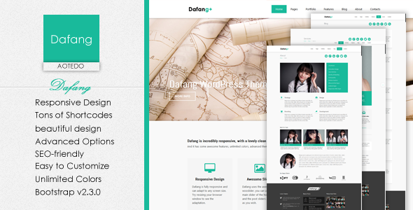 ThemeForest Dafang Responsive Multi-Purpose WordPress Theme 4298775