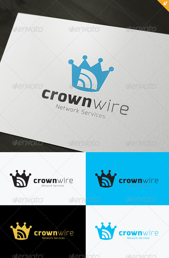 GraphicRiver Crown Wire Logo 4505694